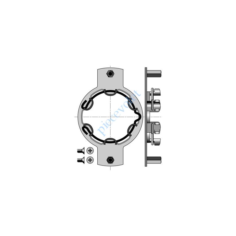 9410719 Support Métallique Déporté entr'axes 100 mm Insert M Moteur LT 50 Cpl Max 50 Nm