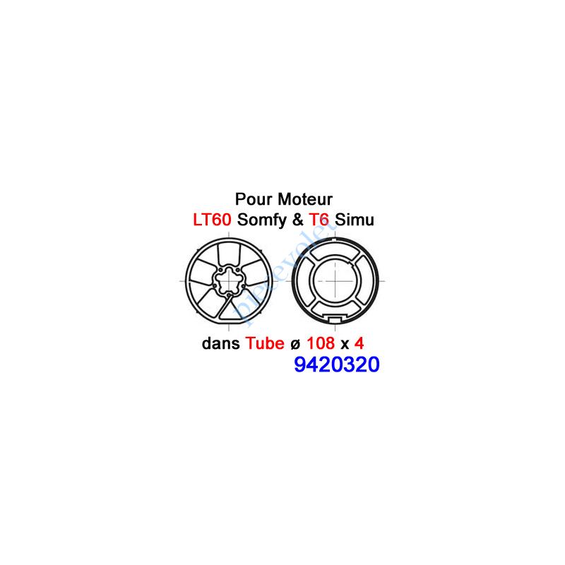 9420320 Jeu d'Adaptation pour Moteur LT 60, Tube ø 108 x 4 mm
