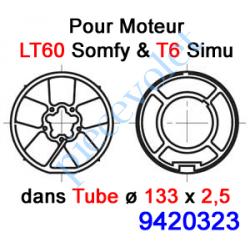 9420323 Jeu d'Adaptation pour Moteur LT 60, Tube ø 133 x 2,5 mm