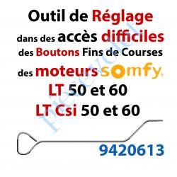 9420613 Outil permettant de Régler les Fins de Courses des Moteurs Somfy LT et LT Csi en cas d'Accès Difficile