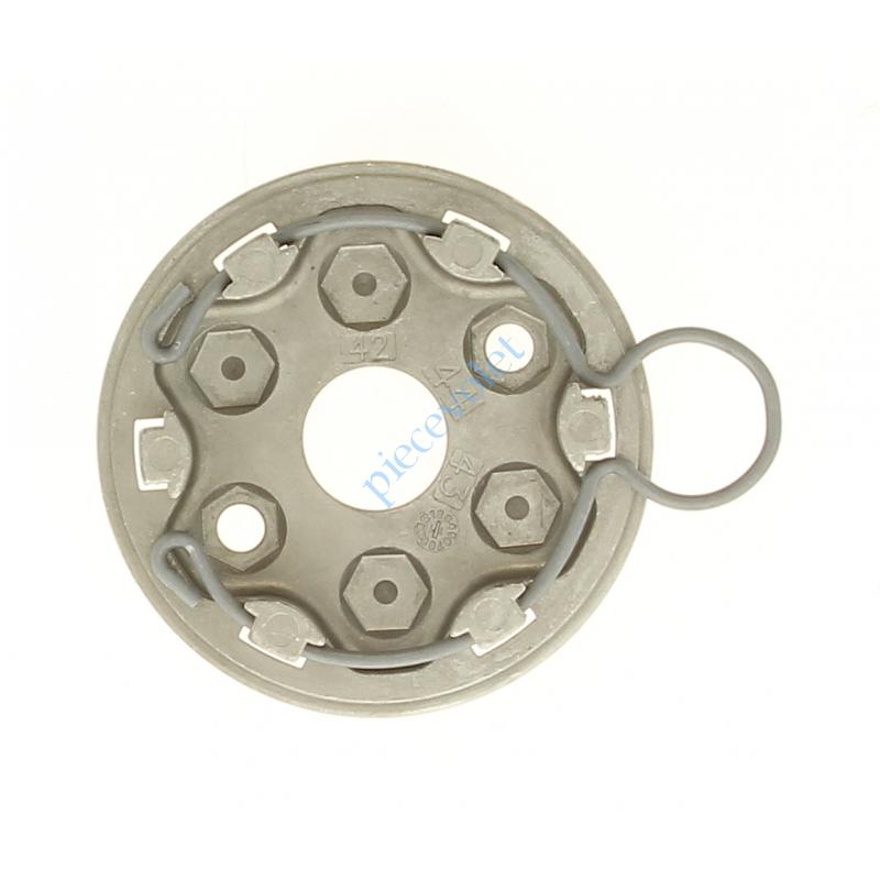 9420624 Support Moteur Somfy LT à Tête Etoile pour Volet Roulant Avec Anneau à Boucle en Inox 2 Trous diamètre 6,5 mm entr'axes