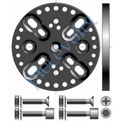 9420646 Support Csi Entr'axes Trd 44, 48 & 60 mm Orien par 13° Sans Pion Cple Max 120 Nm