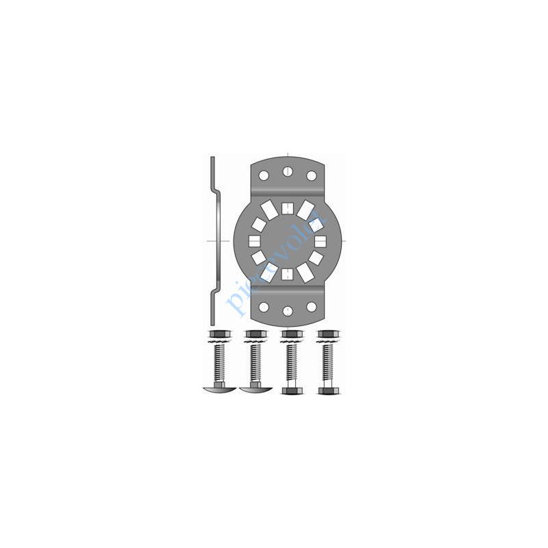 9420654 Support Csi 50 & 60 entr'axes ø 6 40 à 45 mm. avec visserie Couple Maxi 85 Nm