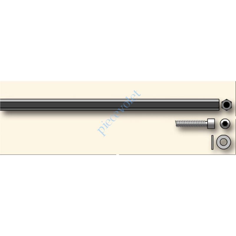 9420657 Tringle d'attaque Hexa 7 mm Lg 200 mm