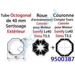 9500387 Jeu d'Adaptation pour Moteur LS 40 ou T 3.5 dans Tube Octo 40 Deprat 6 & 8/10 à Sertissage Extérieur (9500344+9132145)