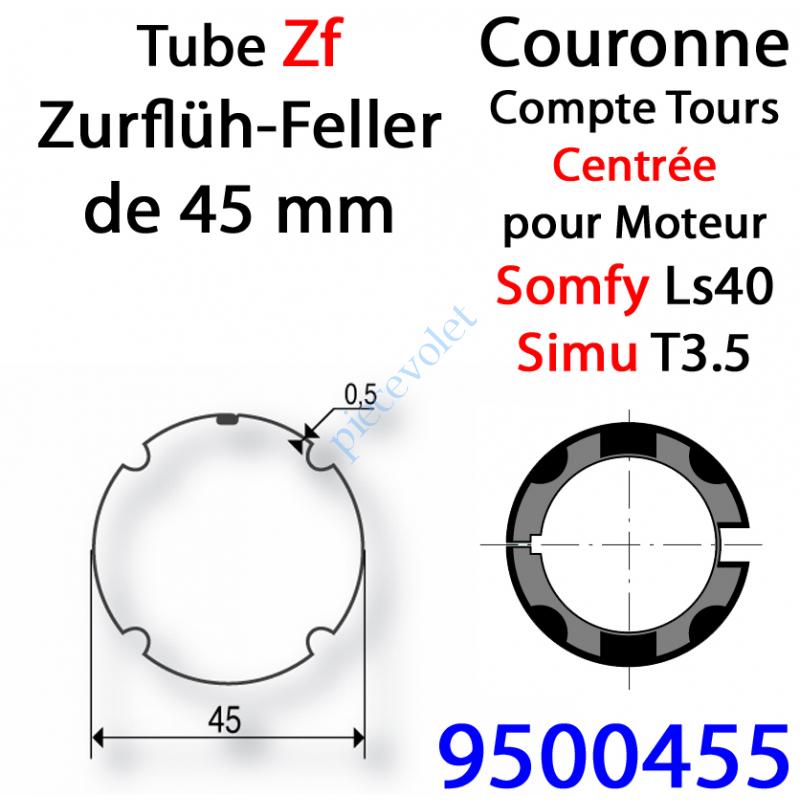 9500455 Couronne ZF 45 pour LS 40 ou T 3.5