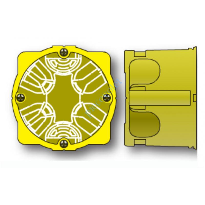 9660080 Boîtier Encastrement Placo ø 65 mm profondeur 50 mm à vis