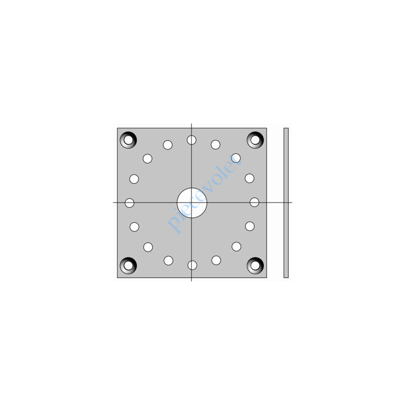 9706034 Plaque 100 x 100 Support Csi 50 & 60 entr'axes 85,5 mm Couple Maxi 120 Nm
