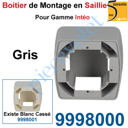 9998000 Boîtier de Montage en Saillie de 43,5 mm Coloris Gris pour Gamme Intéo