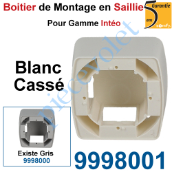 9998001 Boîtier de Montage en Saillie de 43,5 mm Coloris Blanc pour Gamme Intéo
