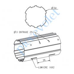A141 Tube Zf54 en 5/10 Galva, le ml