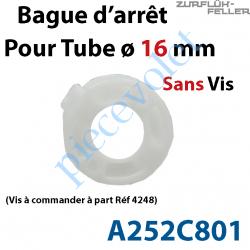 A252C801 Bague d'Arrêt pour Tube ø 16 mm Limite le Déport du Télescopique