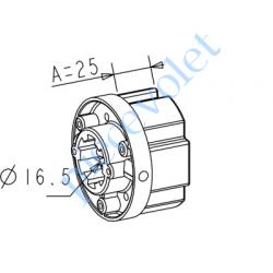 A301 Embout Zf 64 à Crabot Zf Femelle Percé ø 16 mm Femelle pour Compensateur