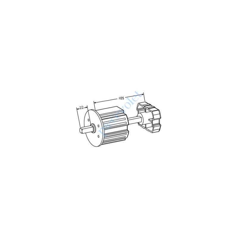 A303 Tandem Zf64 Axe Carré de 10 mm Mâle longueur 22 mm