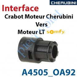 A4505_0A92 Interface Crabot Moteur Cherubini vers Crabot Moteur Somfy LT permet d'utiliser les Roues de la Gamme Somfy LT