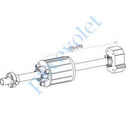 A478A Tandem Deprat 62 Axe Longueur 320 mm ø 16 mm Mâle Réglable de 38 à 138 mm