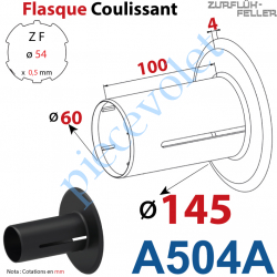 A504A Flasque Coulissant ø 145 mm pour Tube Zf 54