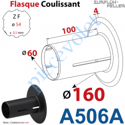 A506A Flasque Coulissant ø 160 mm pour Tube Zf 54