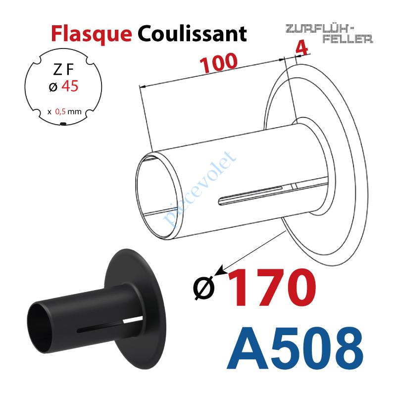 A508 Flasque Coulissant ø 170 mm pour Tube Zf 45