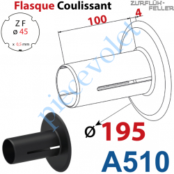 A510 Flasque Coulissant ø 195 mm pour Tube Zf 45