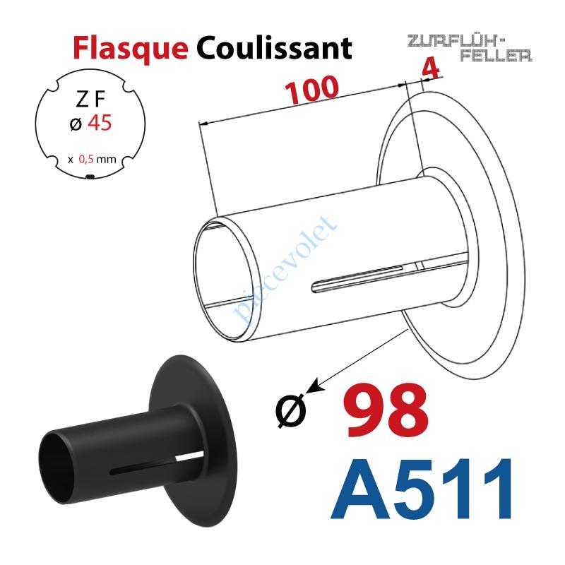 A511 Flasque Coulissant ø 98 mm pour Tube Zf 45