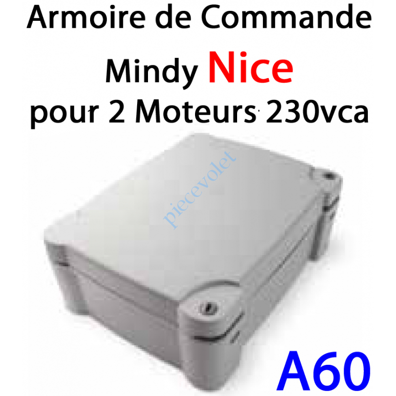 A60 Armoire de commande pour 2 Moteurs 230v ca par exemple: MOBY KIT