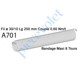 A701 Ressort Type X Fil 30/10 x 250 mm