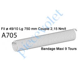 A705 Ressort Type X Fil 49/10 x 750 mm
