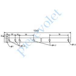 A752 Axe de Compensateur en Tube ø 16x1.5 Lg 1045 mm