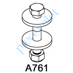 A761 Boulon d'Attelage pour Compensateur Monté dans Tube Zf 54, 64 & 80 Octo 60