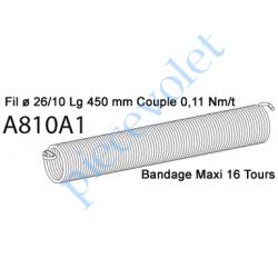 A810A1 Ressort Type X Fil 26/10 x 425 mm