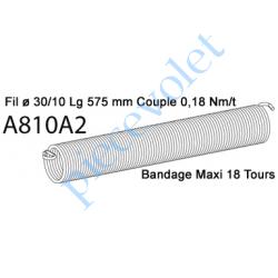A810A2 Ressort Type X Fil 30/10 x 575 mm