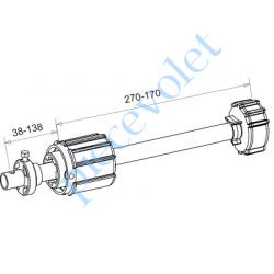A850A Tandem Zf 54 Axe ø 16 mm Mâle Réglable de 38 à 138 mm