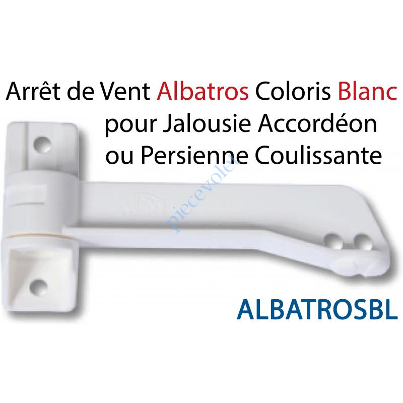 ALBATROSBL Arrêt de Vent en Ouverture Albatros en Pvc Blanc