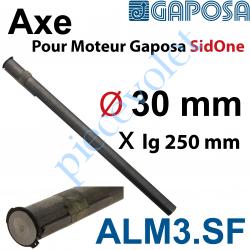 ALM3.SF Axe diamètre 30 mm pour Moteur Gaposa SidOne 250Nm Avec Clavette 8 x 7 x 100 mm en Acier Etiré Avec Circlip diamètre 30m