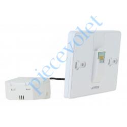 ATF600 Support Mural à Encastrer et Module d'Alimentation pour Thermostat Evohome Wifi à Ecran Tactile