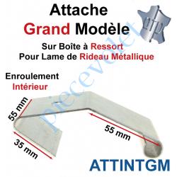 ATTINTGM Attache Grand Modèle Acier Galva sur Boîte Ressort pr Lame Rideau Métallique Enrlt Intérieur
