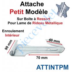 ATTINTPM Attache Petit Modèle Acier Galva sur Boîte Ressort pr Lame Rideau Métallique Enrlt Intérieur