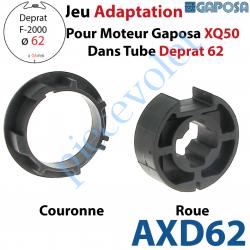 AXD62 Jeu d'Adaptation pour Moteur Gaposa XQ 50 dans Tube Deprat 62