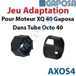 AXOS4 Jeu d'Adaptation pour Moteur Gaposa XQ 40 dans Tube Octo 40