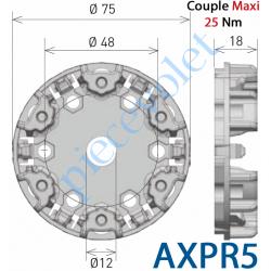 AXPR5 Support Moteur Axial XQ50 Couple Maxi 30 Nm Fixation entr'axes 48 mm