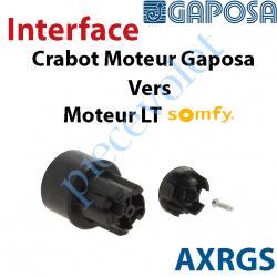 AXRGS Interface Crabot Moteur Gaposa vers Crabot Moteur Somfy LT permet d'utiliser les Roues de la Gamme Somfy LT