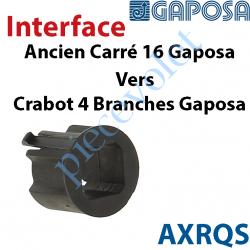 AXRQS Interface Ancien Carré de 16 Moteur Gaposa vers Crabot 4 Branches Moteur Gaposa