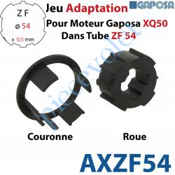 AXZF54 Jeu d'Adaptation pour Moteur Gaposa XQ 50 dans Tube Zf 54