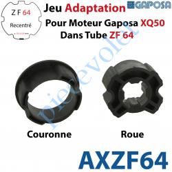 AXZF64 Jeu d'Adaptation pour Moteur Gaposa XQ 50 dans Tube Zf 64