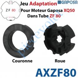 AXZF80 Jeu d'Adaptation pour Moteur Gaposa XQ 50 dans Tube Zf 80
