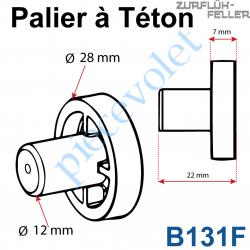 B131F Palier à Téton ø 12 - ø Ext 28 en Polyacéthal