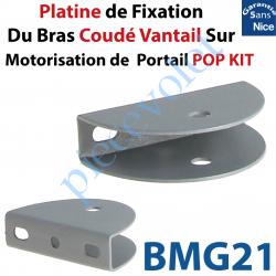 BMG21 Platine de Fixation du Bras Coudé Vantail sur le Vantail pour Motorisation de Portail Nice Pop Kit