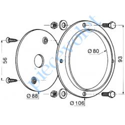 C512 Plaque d'Orientation pour Treuil Minivis Avec Visserie