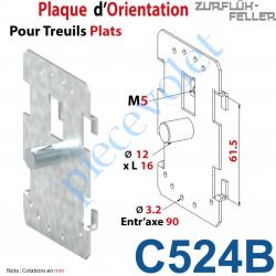 C524B Plaque d'Orientation pour Treuil Plat